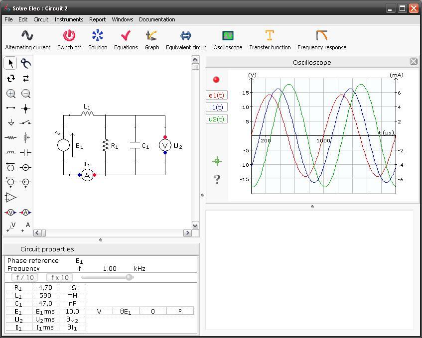 Circuito Eletricos : Software gratuito para análise e simulação de circuitos